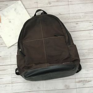 coach brown backpack bookbag